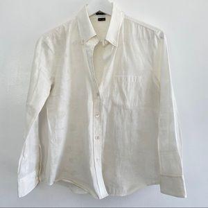 Theory Kaylind Blouse button Down Sheer shirt